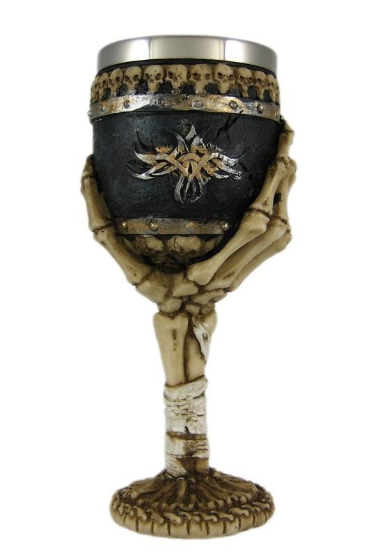 Skeletal Hand Wine Goblet Bones