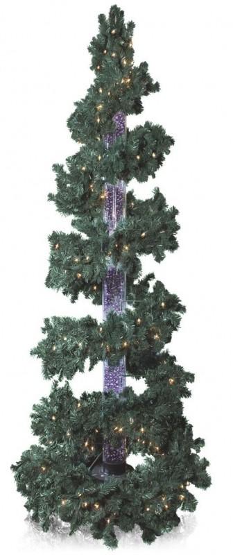 Green Bubble Column Christmas Tree