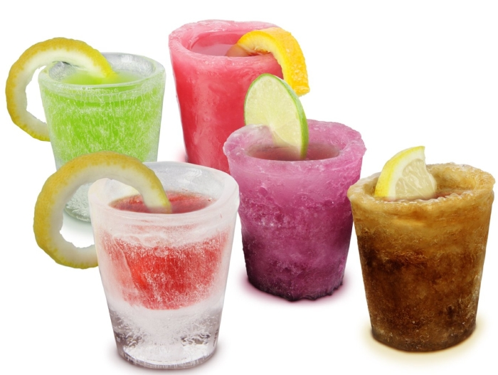 Freeze Ice Shot Glasses Frozen ice moulds x 12 Pack
