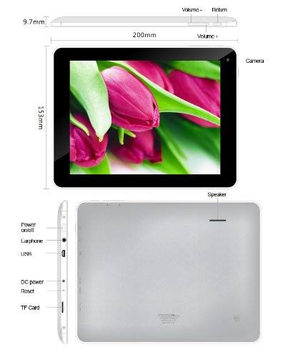 "ELSSE 8"" 5-point capacitive screen TABLET PC ANDROID 4.0"