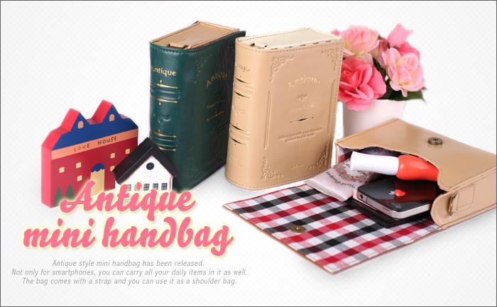 Antique Book Style Shoulder Bag