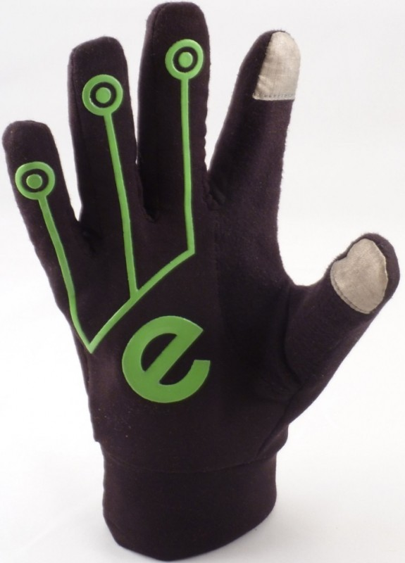 SPORT Black/Green (S) Touchscreen Gloves