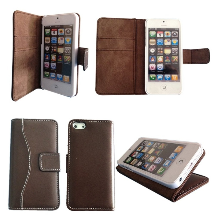 Luxury Genuine Top Lambskin Leather Case for iPhone 5