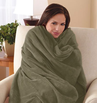 Microplush Throw Camelot Cuddler Electric Heated Warming Heating Blanket