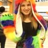 Rainbow Wolf Full Animal Hood Hoodie