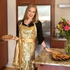 """Glamour Girl"" Gold Sequin Apron"