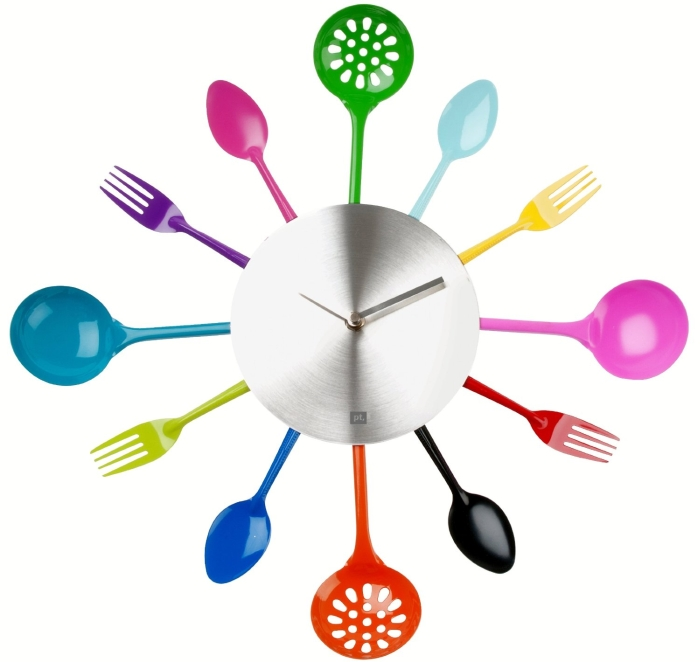 Silverware & Cooking Utensils Wall Clock