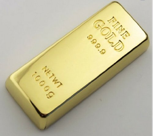 32gb Cool Gold Bar Style USB Flash Drive