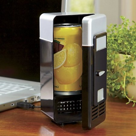 he Swiss Colony USB Heating & Cooling Mini Fridge