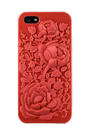 3D Rose Graphic Skin Case for iPhone 5