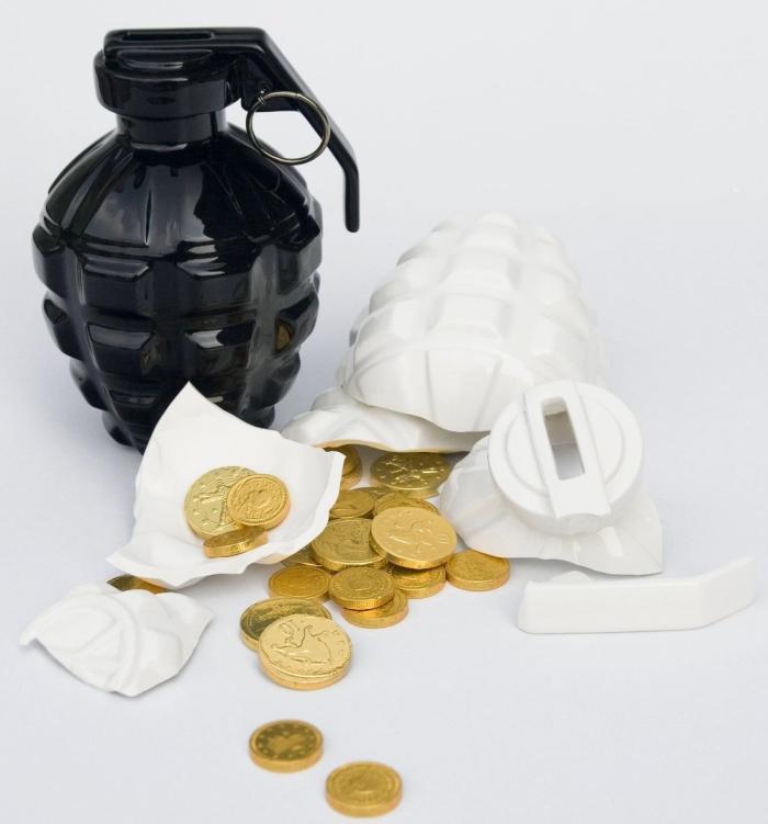 Love Grenade Coin Bank