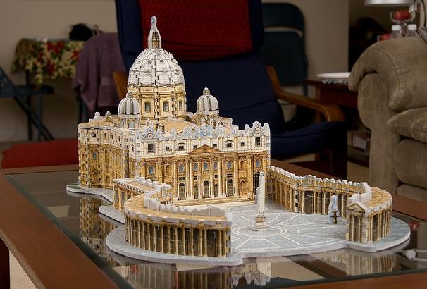 Puzz3D St. Peter's Basilica - Vatican Saint-Pierre de Rome
