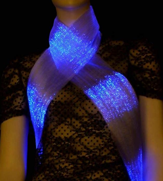 Luminous Fiber Optics Scarf