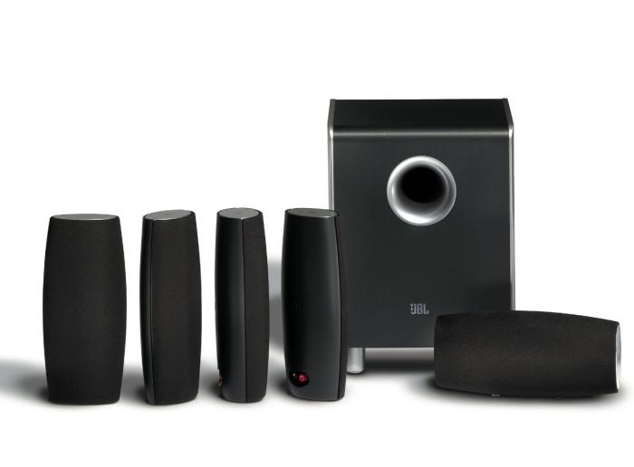 JBL CS6100BG High-Performance Complete 6-Piece Home Theater Speaker System