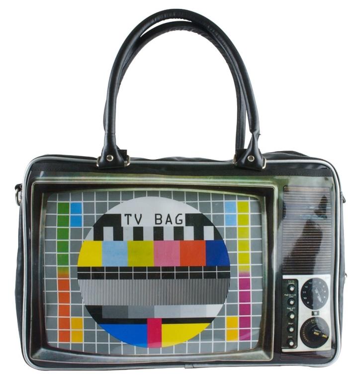 TV Print Weekend Bag