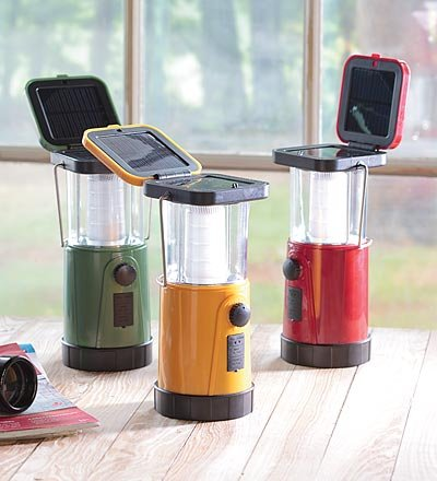 Solar Emergency Led Lantern With Hand-Crank Power Backup