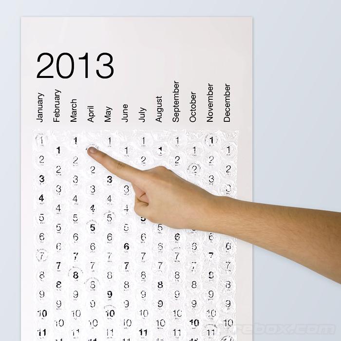 Bubblewrap Calendar 2013