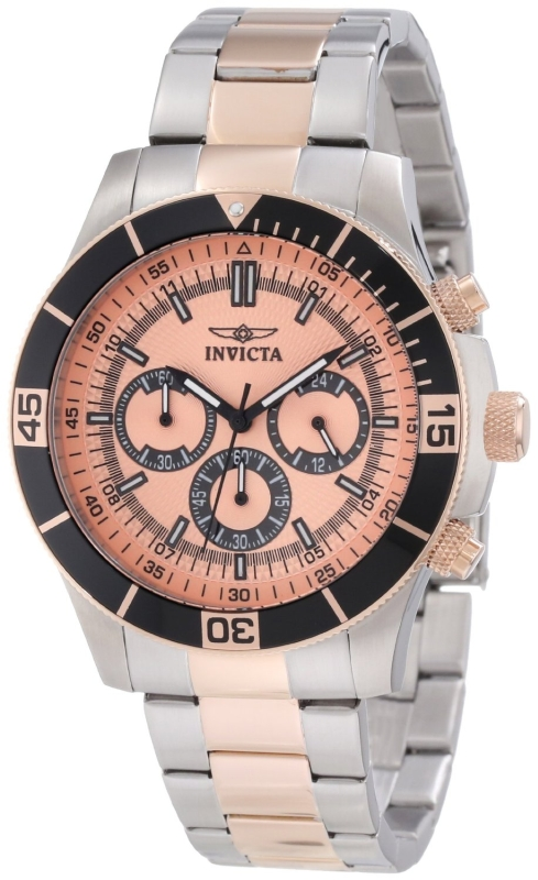 Invicta Men's 12842 Specialty Chronograph Rose Dial Watch