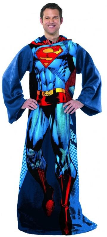 Superman Comfy Throw DC Comics Fleece Blanket Sleeves