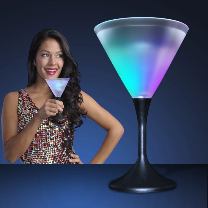 Frosted LED Martini Glass