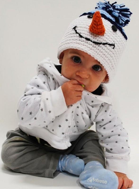 Frosty Crochet Baby Hat