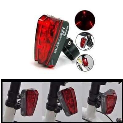 5-LED Bicycle Bike Laser Tail Light Lane for Outdoor Cycling Camping