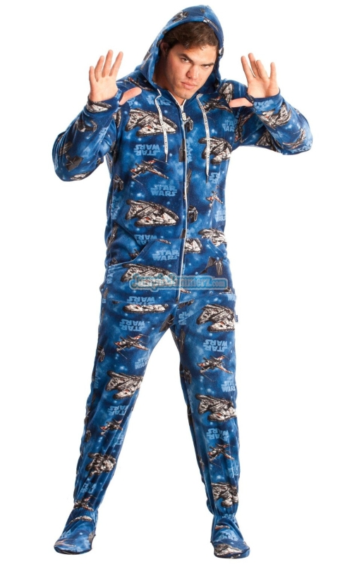 Star Wars Space Ships Footed Pajamas