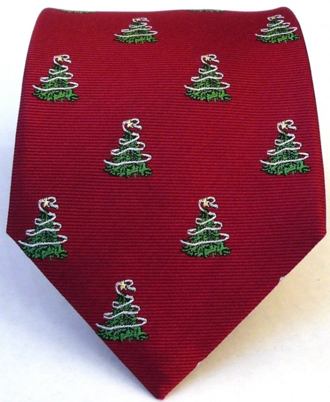 Christmas Tree Tie