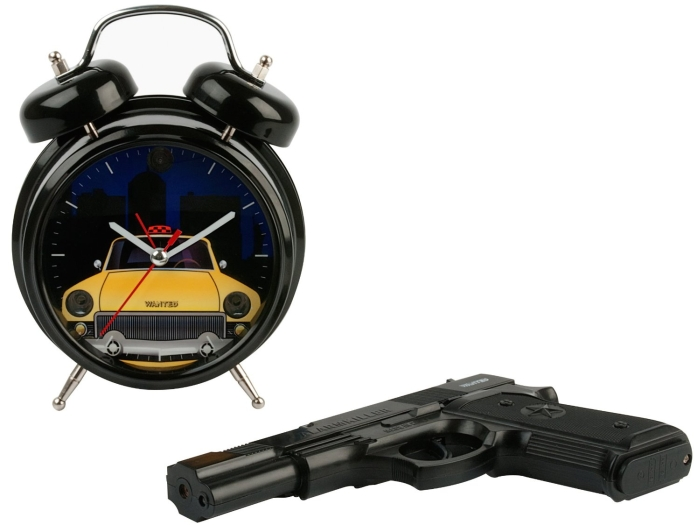 Wanted Shoot the Taxi with Remote Gun Alarm Clock