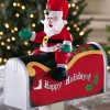 Santa Claus Mailbox Cover Outdoor Christmas Decoration