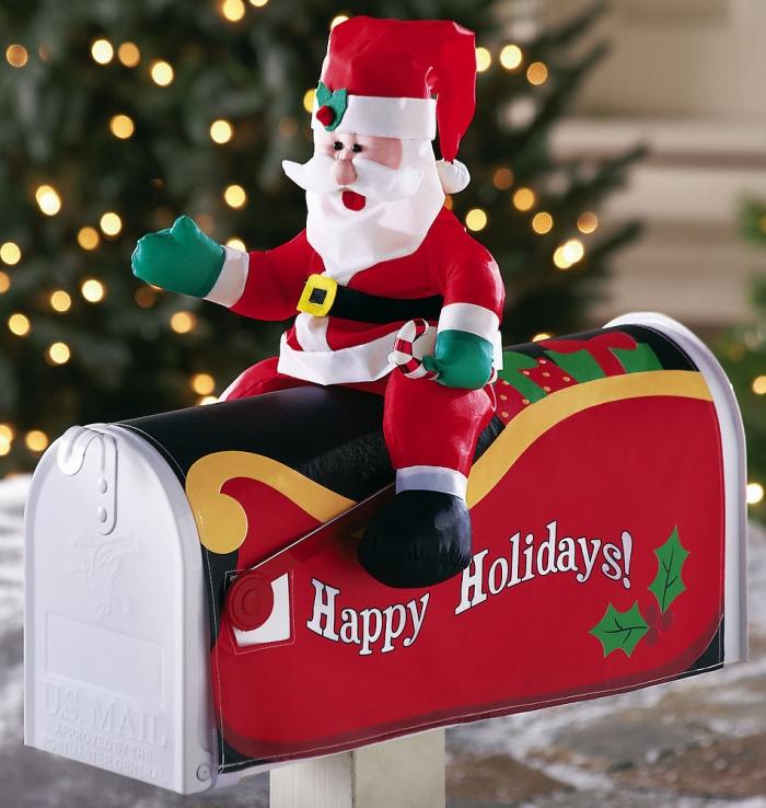 Santa Claus Mailbox Cover Outdoor Christmas Decoration