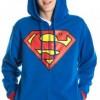 Superman Adult Costume Hoodie Hooded Sweatshirt