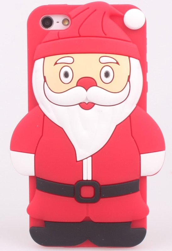3D Santa Claus Soft Silicon Case For Apple iPhone 5
