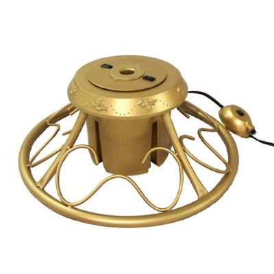 Heavy Duty Fancy Gold Metal Rotating Artificial Christmas Tree Stand