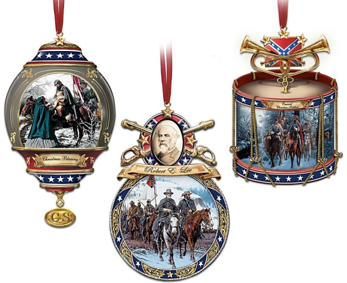 """Home For The Holidays"" Civil War Ornament Set"