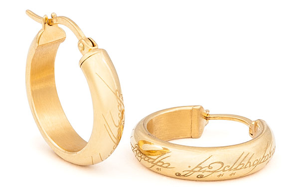Hobbit The One Ring Earrings