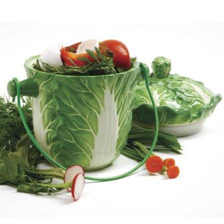 Ceramic Lettuce Compost Keeper