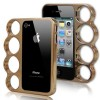 Knuckle Bumper Case for iPhone 4S / 4 - Coffee