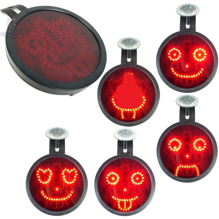 Novelty LED Car Sign Animated Facial Expression