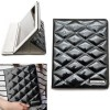 LUXURY Black faux patent leather protective case for Apple New iPad 4 & 3