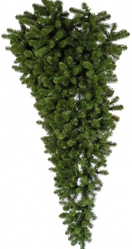 6.0' American Upside Down Half Christmas Tree
