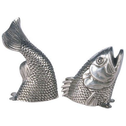 Fish salt pepper shakers for Fish salt and pepper shakers