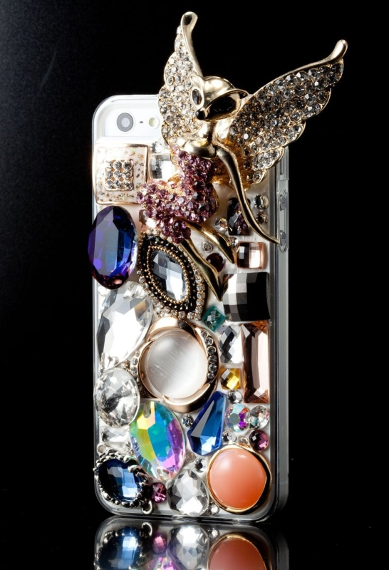 Amazon.com  Newsh Bling Bling 3D Handmade Swarovski Crystal Fly Wizard Back Case Cover for Iphone 5 - PT01