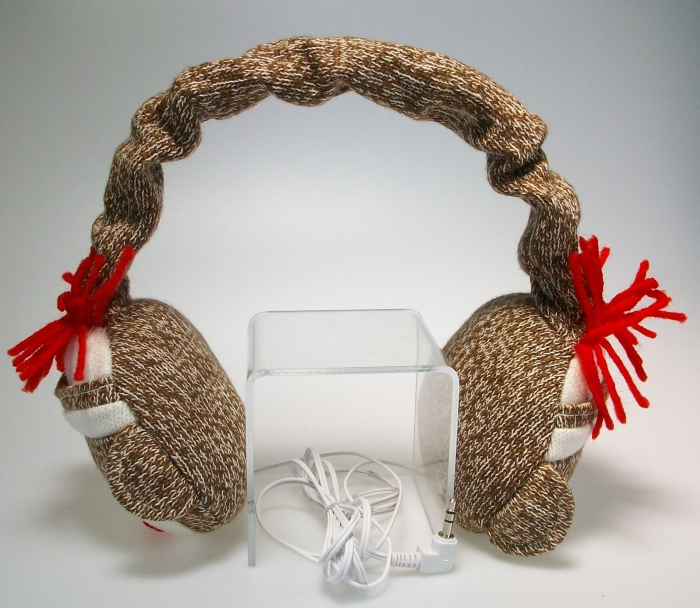 Amazon.com  Sock Monkey Headphones - PT01