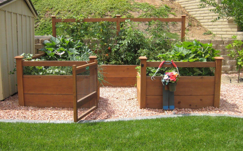 Rustic Elevated Garden Bed