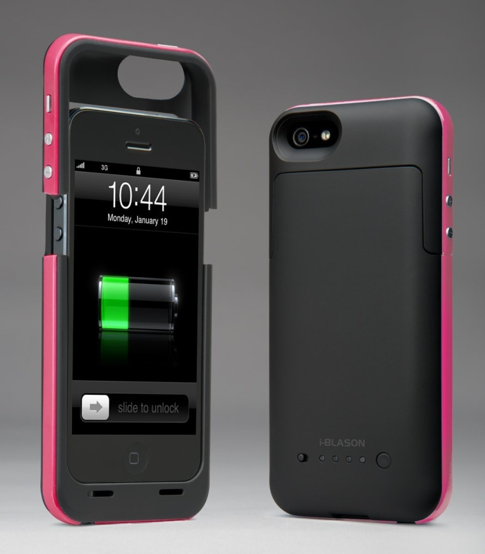 iphone 5 rechargeable case i blason powerpack iphone 5 rechargeable external battery 14561