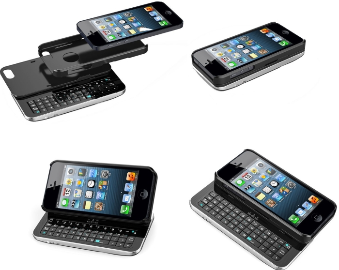 mini wireless bluetooth keyboard case for iphone 5 7 gadgets. Black Bedroom Furniture Sets. Home Design Ideas