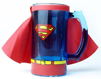 Superman Beer Mug Stein 7 Gadgets