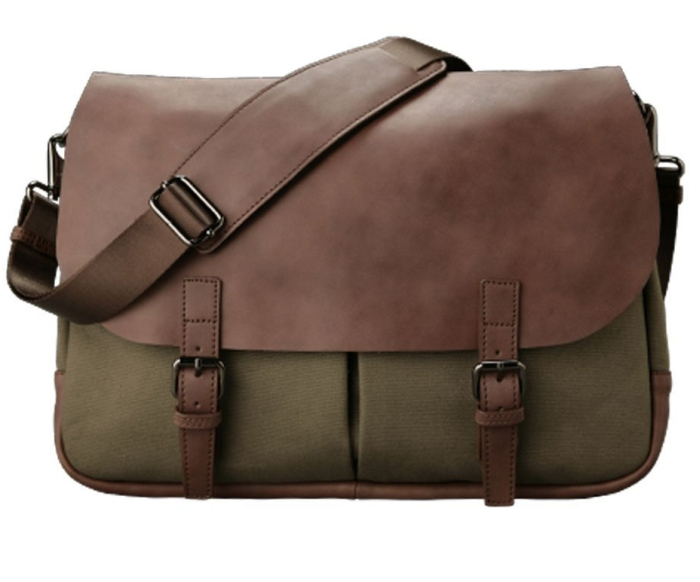 Amazon.com  Northwest Leather Plateau Messenger Bag - MAIN