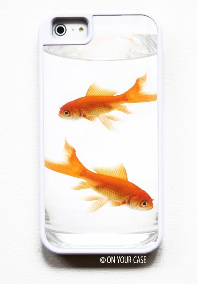 Amazon.com  iPhone 5 Tough Case Goldfish Bowl- Silicone Lined - MAIN